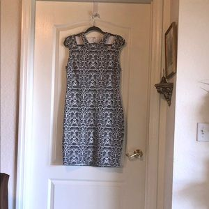 Cache snakeskin design peekaboo dress
